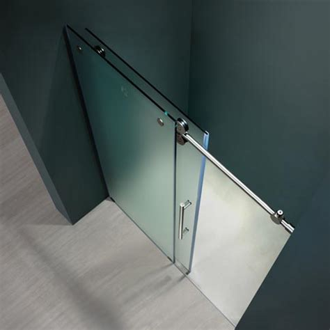 frameless shower door hardware supplies vigo 48 inch frameless shower door 3 8 quot frosted chrome hardware right product