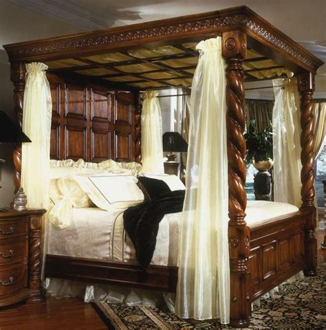 King Size Four Poster Bed by King Size Antique Reproduction Four Poster Solid