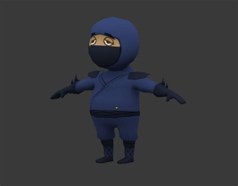 blender tutorial low poly character creating a low poly ninja game character using blender part 2