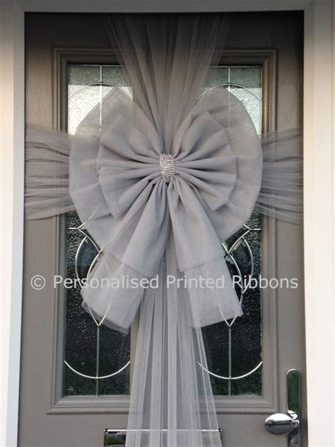 door bow deluxe silver door bow