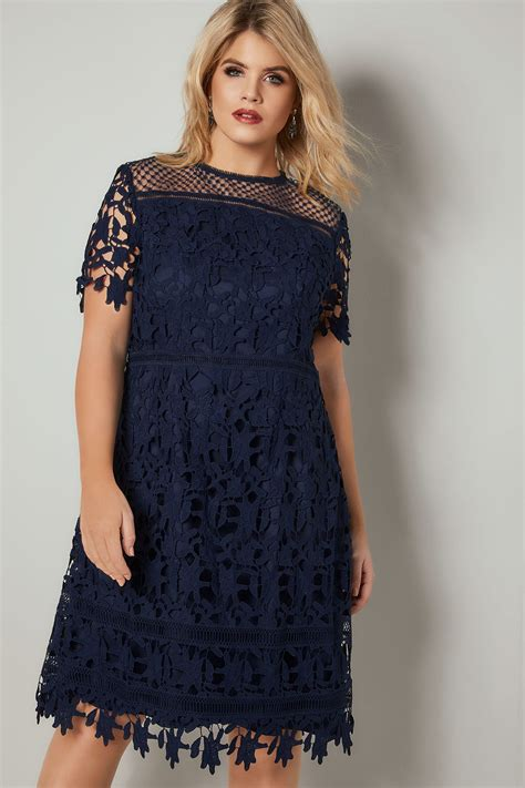 background images in div chi chi navy blue a line dress with crochet overlay plus