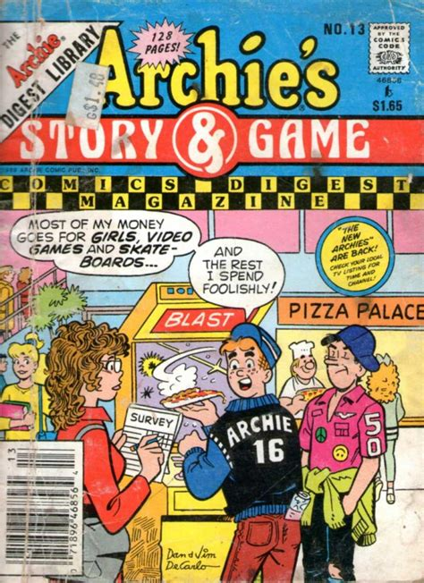 Archie Riverdale High archie s story digest magazine 13 smokescreen at