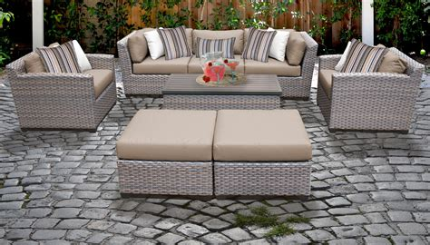 florence  piece outdoor wicker patio furniture set