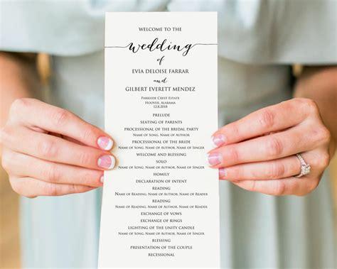 wedding program templates 15 free word pdf psd documents