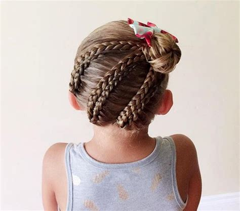 little kids hair braided into a bun 40 cool hairstyles for little girls on any occasion