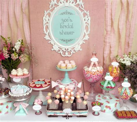 Wedding Shower Decor by Vintage Shabby Chic Bridal Wedding Shower Ideas