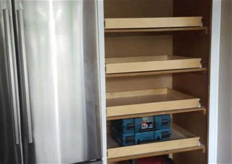 Adding Pull Out Shelves To Cabinets - how to redo kitchen cabinets without painting or priming