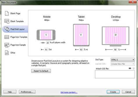 dreamweaver fluid grid template adobe dreamweaver cs6 review creative bloq
