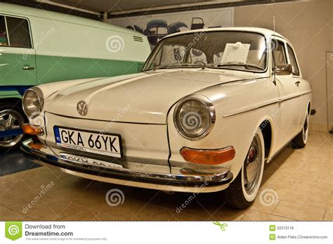 vintage volkswagen vintage vw car in a car museum editorial stock photo