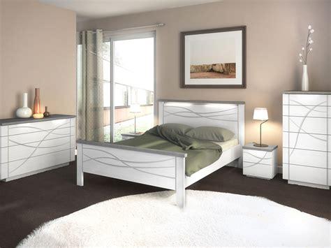 Supérieur Chambre Avec Meuble Blanc #1: Chambre-adulte-moderne-serena-volga-blanc-eclairage-led-finition-beton.jpg