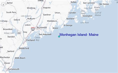 regional map local map detailed map monhegan island maine tide station location guide