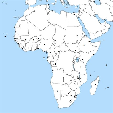 africa map quiz sporcle find africa s capitals ending with a vowel quiz by