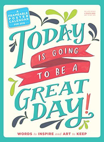 libro today is going to be a great day poster calendar 2016 di