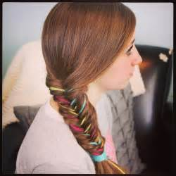 color extensions yarn extension fishtail braid temporary color highlights