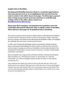 Developmental Editor Cover Letter by Developmental Disability Awareness Month