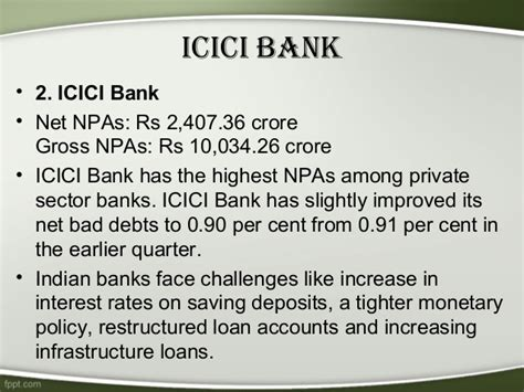 icici bank policy non performing assets npa