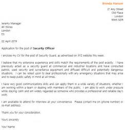 security guard cover letter example cover letters and cv