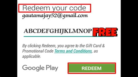 What Play Store Redeem Code How To Get Free Play Store Redeem Code