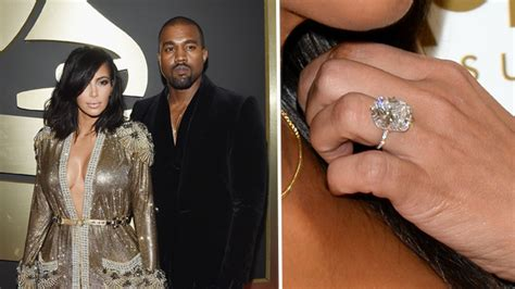 kim kardashian engagement ring cost kanye size does matter the biggest and best celebrity
