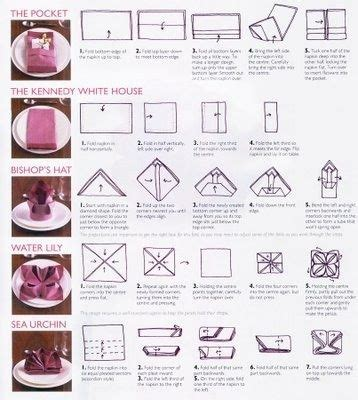 5 different napkin folding styles with instructions party planning pinterest style by and