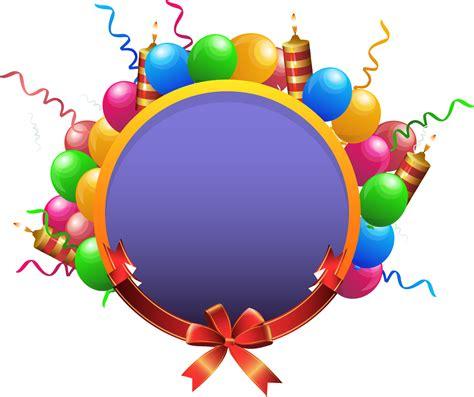imagenes en png de globos imagen circulo con marco de globos de varios colores png