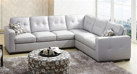 Abbyson Living Sienna Gray Leather Sectional Sofa Ks 1591 Abbyson Sectional Sofa