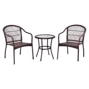 target patio chairs roma wicker 3 patio bistro furniture set target