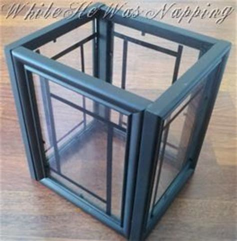 lantern use picture frames from dollar store and paint