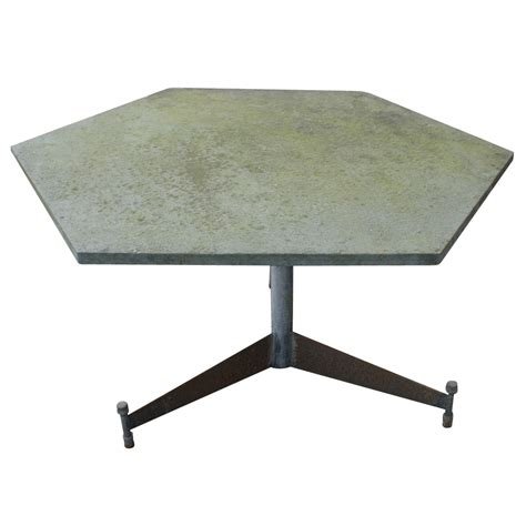 Hexagonal Patio Table Midcentury Retro Style Modern Architectural Vintage Furniture From Metroretro And Mcm Consignment