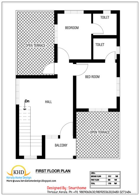 floor plans designer house plan and elevation 1700 sq ft kerala home