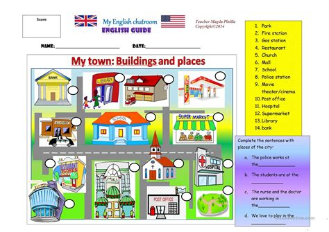 shops in my town worksheet free esl printable worksheets my town places and buildings worksheet free esl