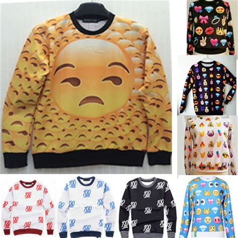 design emoji clothes plus size women emoji jogger tops tees loose casual long