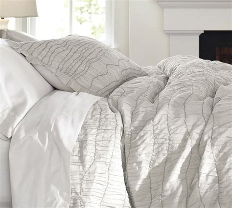 ruched bedding ruched voile duvet cover gray contemporary duvet