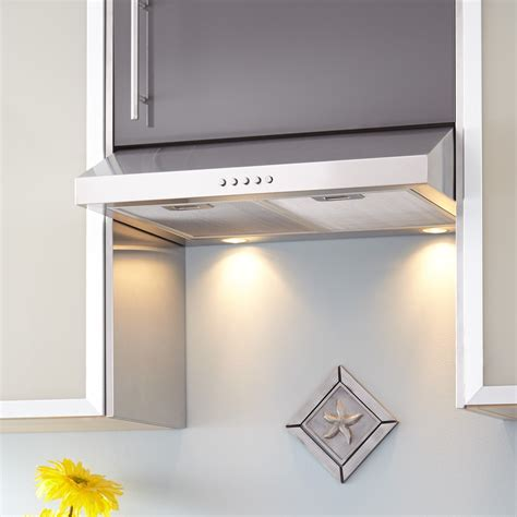 best under cabinet range hood 24 quot lynn series stainless steel under cabinet range hood