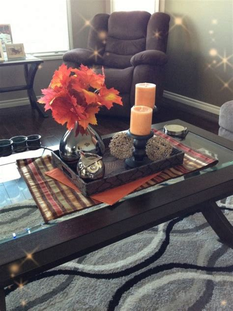 coffee table centerpiece 43 fall coffee table d 233 cor ideas digsdigs