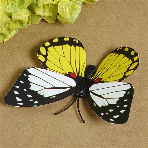3d Decoration Butterfly Magnet new 3d butterfly magnet for birthday reminder notes refrigerator sticker wedding decoration