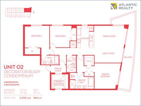 02 floor plan beachwalk by pininfarina new miami florida beach homes