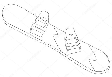 Free coloring pages of snowboard