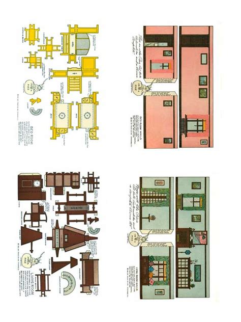 Papercraft Model Free - 1920 s home interiors paper model free paper toys and