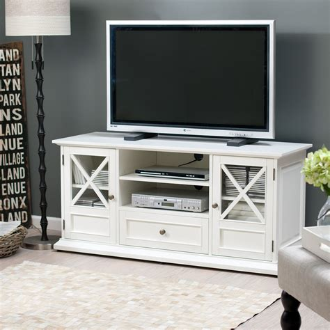 tv stands belham living hton 55 inch tv stand white at hayneedle