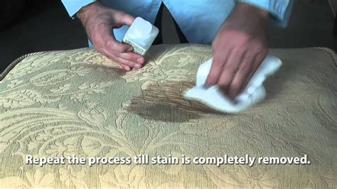How To Clean Fabric Stain by How To Remove Stains From A Fabric Sofa Mp4