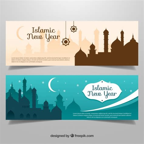 design banner islamic elegant islamic new year banner vector free download