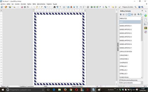 pagina de bordes de p 225 gina art 237 sticos en writer blog de