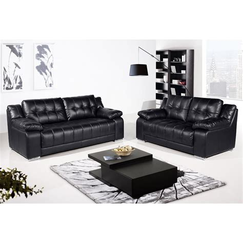 Black Leather Sofas Uk Newham Black Leather Sofa Collection
