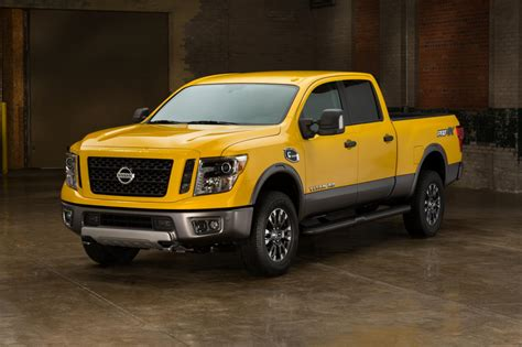 nissan yellow all new 2016 nissan titan xd powers up with v8
