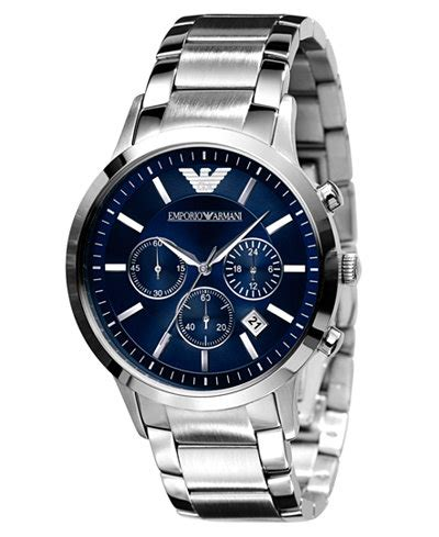 Emporio Armani Watch, Men's Stainless Steel Bracelet AR2448   Watches   Jewelry & Watches   Macy's