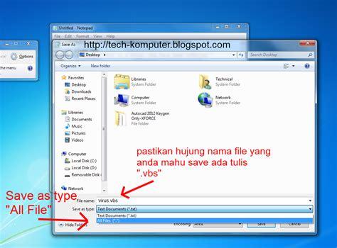 cara membuat virus prank tech komputer cara buat fake virus funny virus prank