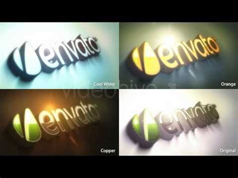 Videohive 3d Logo Kit After Effects Template Youtube 3d Logo After Effects Template