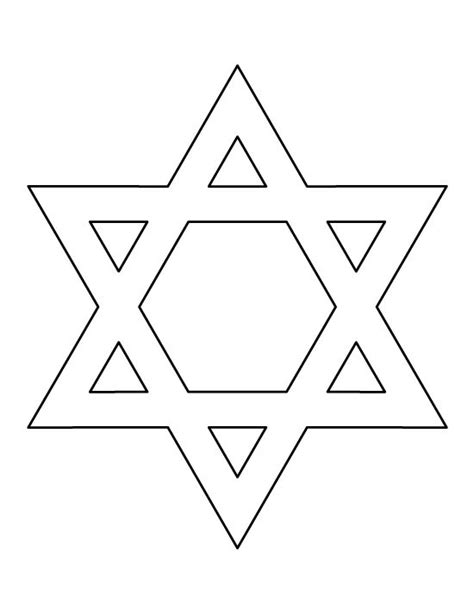 Printable Star Of David Pattern | star of david pattern use the printable outline for