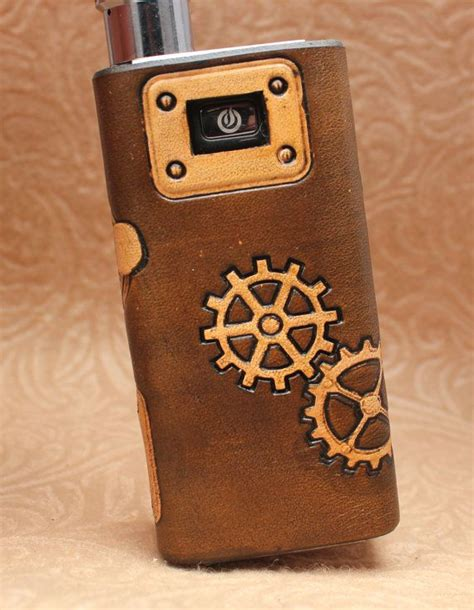 Innokin E Cigarette Leather Pouch For Silver Murah steunk distressed custom leather vaping sleeve wrap skin for innokin mvp e cig mod